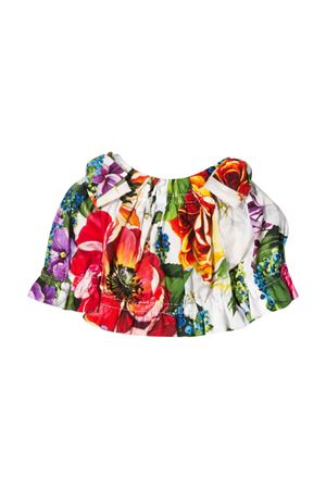 Multicolor cold shoulder flower top Dolce&Gabbana kids Dolce & Gabbana kids | 194462352 | L23S60HS5F9HA1AK