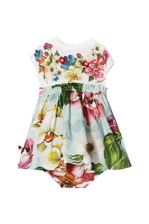 White dress with multicolor press Dolce & Gabbana kids Dolce & Gabbana kids | 11 | L2JD1RG7VVWS9000