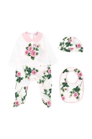 White set with flowers press Dolce & Gabbana kids Dolce & Gabbana kids | 75988882 | L2JG16G7VVJHA96C