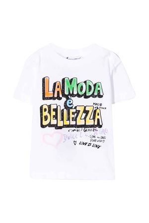 White t-shirt with press Dolce&Gabbana kids Dolce & Gabbana kids | 8 | L2JTAZG7WCQW0800
