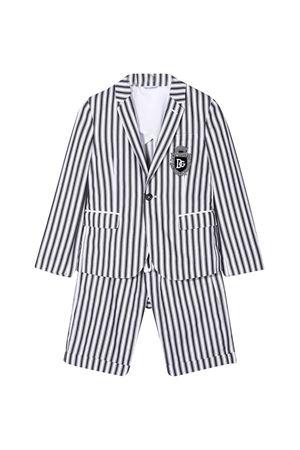 Ensamble a righe verticali con logo Dolce&Gabbana kids Dolce & Gabbana kids | 90000015 | L41U73G7VYHS8051