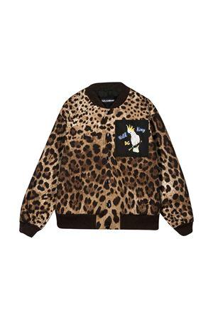 Bomber con stampa leopardata Dolce & Gabbana kids Dolce & Gabbana kids | 13 | L4JB1GG7WGIHY13M