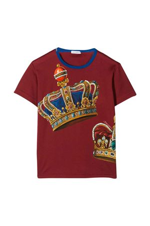 Burgundy T-shirt Dolce & Gabbana kids  Dolce & Gabbana kids | 8 | L4JT6SG7VJRHS1FL