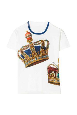 Maglia bianca con stampa corona Dolce&Gabbana kids Dolce & Gabbana kids | 8 | L4JT6SG7VJRHW1FL