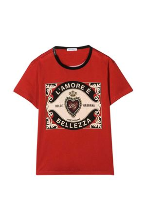 Red t-shirt Dolce & Gabbana kids  Dolce & Gabbana kids | 8 | L4JT6SG7VLOHR1EH