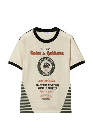 T-shirt bicolore Dolce & Gabbana kids Dolce & Gabbana kids | 8 | L4JT8AG7VLPHA1EN
