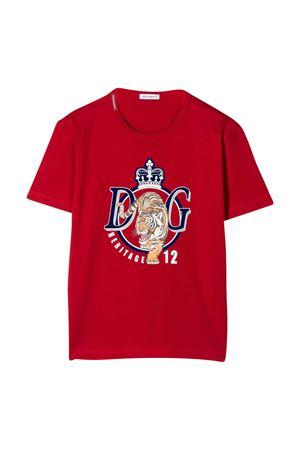 T-shirt rossa con stampa frontale Dolce&Gabbana kids Dolce & Gabbana kids | 8 | L4JTAUG7VZVR2254