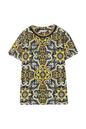 T-shirt con stampa maioliche Dolce&Gabbana kids Dolce & Gabbana kids | 8 | L4JTBLHS7CVHB1MQ