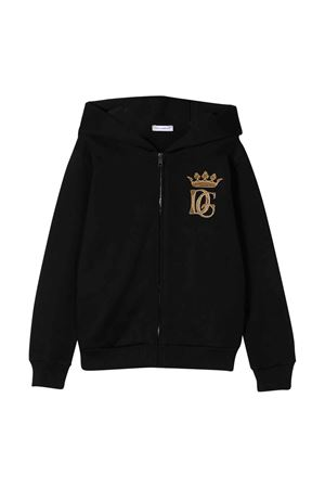 Felpa nera con cappuccio Dolce&Gabbana kids Dolce & Gabbana kids | 5032280 | L4JW3EG7WGGN0000