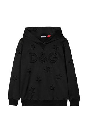 Felpa nera con cappuccio Dolce&Gabbana kids Dolce & Gabbana kids | 5032280 | L4JW7GG7VBVN0000