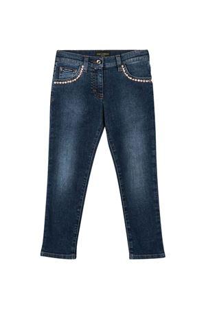 Dark blue jeans with applications Dolce&Gabbana kids Dolce & Gabbana kids | 9 | L51F55LD874B0665