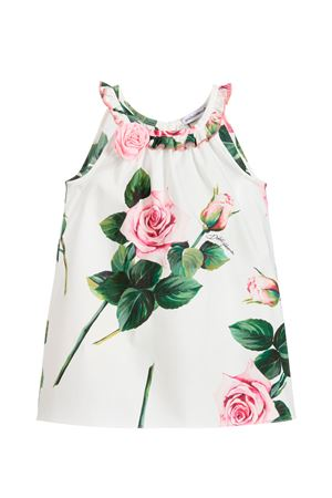 White sleeveless dress with roses press and application Dolce&Gabbana kids Dolce & Gabbana kids | 11 | L52DC7HS5GGHA96C