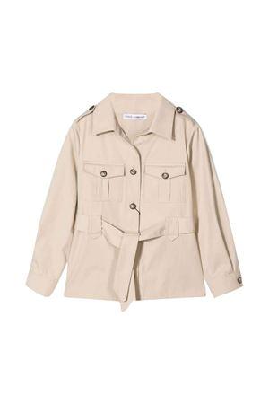 Beige jacket with waist belt Dolce & Gabbana kids Dolce & Gabbana kids | 1463385353 | L53C87FU6WEM0131