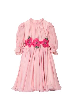 Pink dress with embroidered flowers Dolce&Gabbana kids Dolce & Gabbana kids | 11 | L59D75FU1ATF0660
