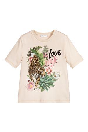 Beige t-shirt with multicolor press Dolce&Gabbana kids Dolce & Gabbana kids | 8 | L5JTCGG7WQUHK1RI