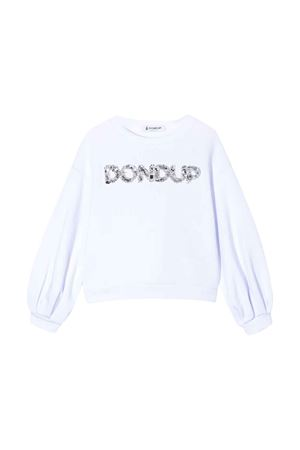 White teen Dondup kids sweatshirt  DONDUP KIDS | -108764232 | YF051FY0011ZA30000