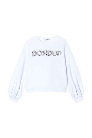 Felpa bianca teen Dondup kids DONDUP KIDS | -108764232 | YF051FY0011ZA30000