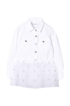 Dondup Kids white denim jacket DONDUP KIDS | 13 | YJ237BSE027PTDW000