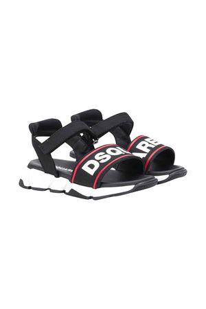 Sandalo nero con stampa DSQUARED2 kids DSQUARED2 KIDS | 12 | 63499VAR1