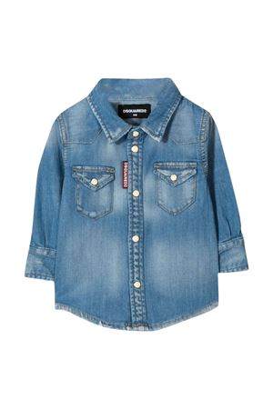 Camicia blu denim Dsquared2 kids DSQUARED2 KIDS | 5032334 | DQ033GD00YJDQ01
