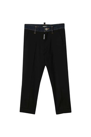 Black teen trousers with denim application Dsquared2 kids DSQUARED2 KIDS | 9 | DQ03VKD00X9DQ900T