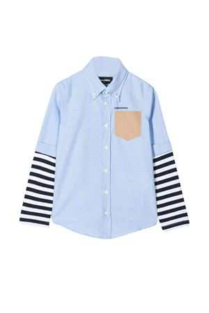 Camicia azzurra teen a doppio strato DSQUARED2 kids DSQUARED2 KIDS | 5032334 | DQ03VXD00X8DQ887T