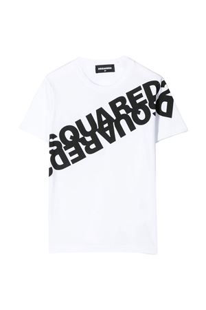 White teen t-shirt with black press Dsquared2 kids DSQUARED2 KIDS | 5032319 | DQ03WAD00W5DQ100T