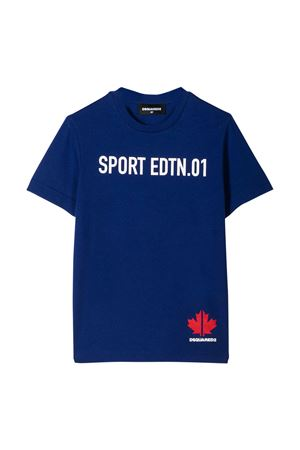 Blue t-shirt Dsquared2 kids teen  DSQUARED2 KIDS | 8 | DQ03WED00MMDQ861T