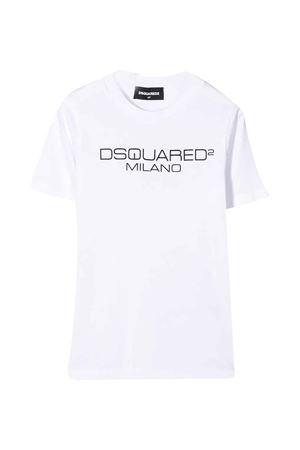 T-shirt bianca con logo frontale DSQUARED2 kids DSQUARED2 KIDS | 8 | DQ03WGD00WYDQ100