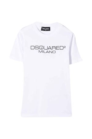 White teen t-shirt with frontal logo DSQUARED2 kids DSQUARED2 KIDS | 8 | DQ03WGD00WYDQ100T