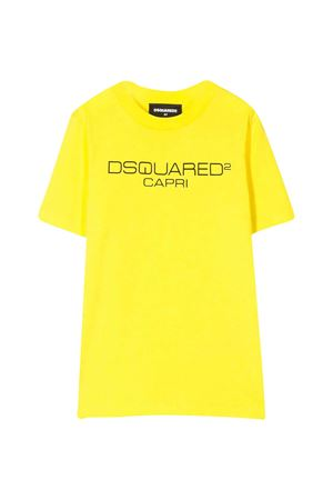 Yellow teen t-shirt with frontal logo DSQUARED2 kids DSQUARED2 KIDS | 8 | DQ03WHD00WYDQ205T