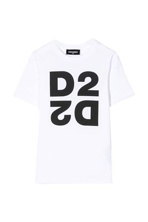White teen t-shirt with black press Dsquared2 kids DSQUARED2 KIDS | 5032319 | DQ03WID00XKDQ100T