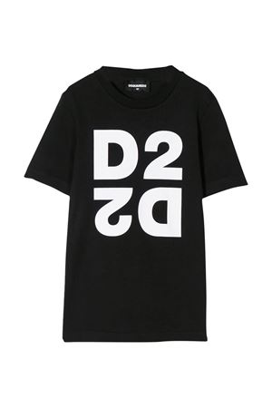 Black t-shirt Dsquared2 kids teen  DSQUARED2 KIDS | 8 | DQ03WID00XKDQ90JT
