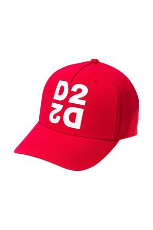 Cappello da baseball rosso DSQUARED2 kids DSQUARED2 KIDS | 75988881 | DQ03XED00I8DQ415