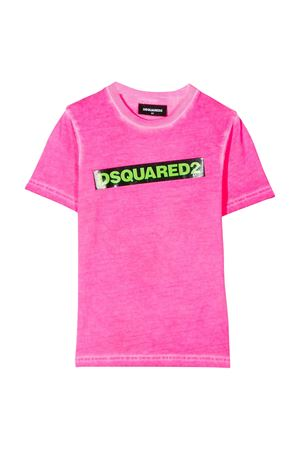 Fucsia teen t-shirt with frontal press Dsquared2 kids DSQUARED2 KIDS | 5032319 | DQ03Y5D00X2DQ318T