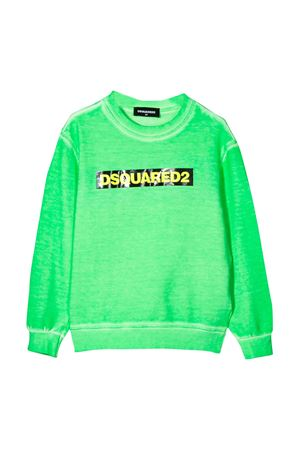 Green sweatshirt Dsquared2 kids teen  DSQUARED2 KIDS | -108764232 | DQ03Y6D00X3DQ584T