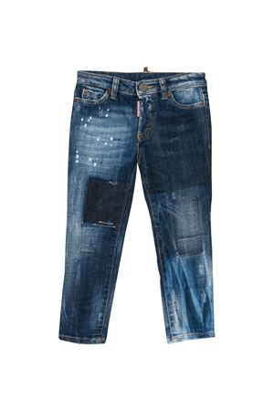 Jeans slim teen con effetto vintage DSQUARED2 kids DSQUARED2 KIDS | 9 | DQ03YTD00YFDQ01T