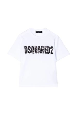 T-shirt bianca Dsquared2 kids teen DSQUARED2 KIDS | 8 | DQ03ZFD00MMDQ100T