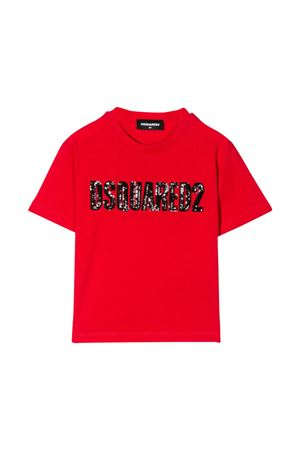 T-shirt rossa Dsquared2 kids teen DSQUARED2 KIDS | 8 | DQ03ZFD00MMDQ411T