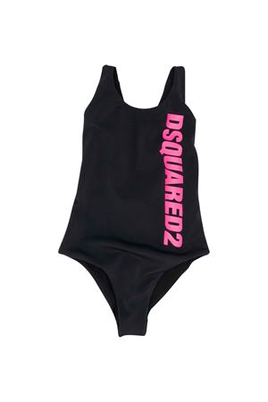 Black swimsuit with press DSQUARED2 kids