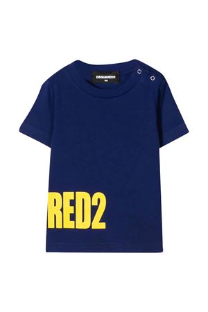 Blue t-shirt with lateral logo DSQUARED2 kids DSQUARED2 KIDS | 8 | DQ040YD00MVDQ861