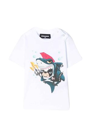 White t-shirt with frontal press DSQUARED2 kids DSQUARED2 KIDS | 8 | DQ040ZD00MMDQ100