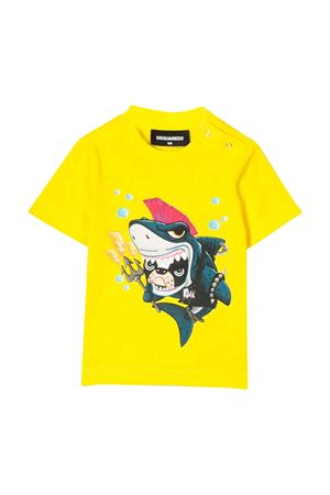 Yellow t-shirt with press DSQUARED2 kids DSQUARED2 KIDS | 8 | DQ040ZD00MMDQ205