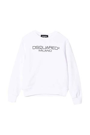 White Sweatshirt with logo DSQUARED2 kids DSQUARED2 KIDS | -108764232 | DQ041ND00YNDQ100
