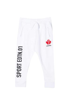 White teen trousers with black press and red logo Dsquared2 kids DSQUARED2 KIDS | 9 | DQ043ND00J7DQ100T