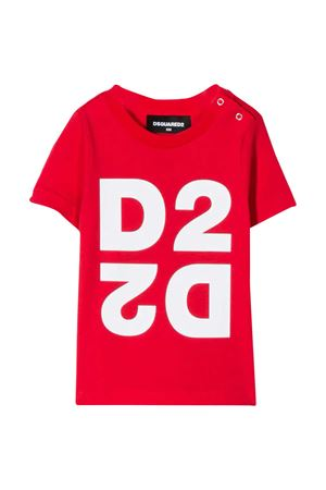 Red baby t-shirt with white logo Dsquared2 kids DSQUARED2 KIDS | 8 | DQ044HD00XMDQ411