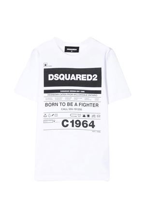 White t-shirt Dsquared2 kids teen  DSQUARED2 KIDS | 8 | DQ044JD00YRDQ100T