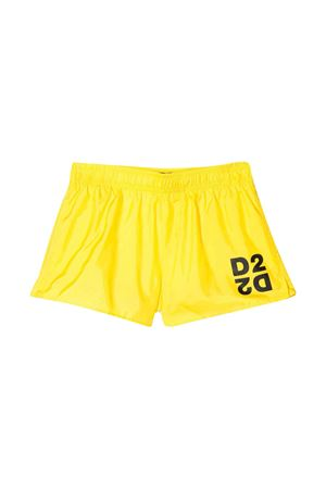 Yellow teen swimsuit with logo DSQUARED2 kids DSQUARED2 KIDS   85   DQ044KD00QKDQ205T