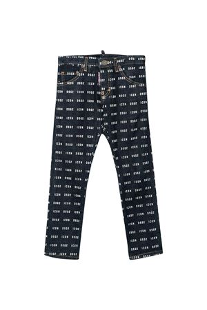 Dark teen denim trousers with logo trama Dsquared2 kids DSQUARED2 KIDS | 9 | DQ04ELD00Z1DQ01T