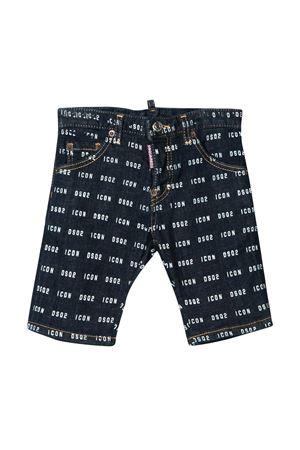 Dark teen denim bermuda shorts with logo trama Dsquared2 kids DSQUARED2 KIDS | 30 | DQ04EMD00Z1DQ01T